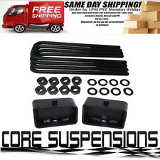 """1988 - 1999 C1500 C2500 C3500 3"""" Steel Rear Blocks + 12"""" U Bolts Lift Kit"""