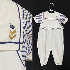 Christian Dior Baby Dior nautical sailor romper jumpsuit 24 months white