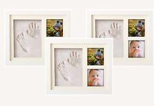 3 Stück Pookie Boo - Babyhand und Fußabdruck Set für 2 Babyfotos - Bilderrahmen