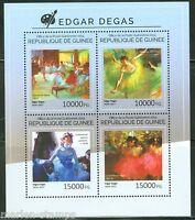GUINEA 2014 EDGAR DEGAS   PAINTINGS SHEET MINT NH