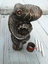 Antique Solid Aluminium Octopus Head Handle Wooden Cane Walking Stick Handmade