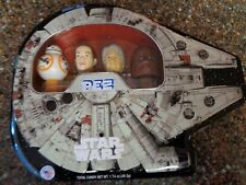 Star Wars Millennium Falcon Pez Gift Set Collectible Tin Han Solo Rey BB-8 NEW
