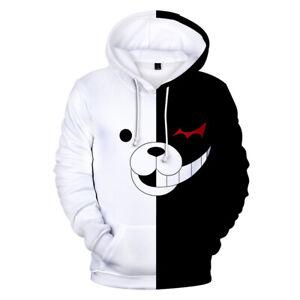 Anime Danganronpa Monokuma Cosplay Hoodie Jacket Hoodie Sweatshirt Pullover