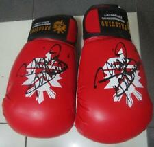 MANNY PACQUIAO RED 1  PAIR GLOVES ORIGINAL AUTOGRAPH COA brand new 12 OZ red