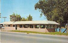 Cheboygan Michigan Jack's Riverside Restaurant Exterior View Vintage PC V15898