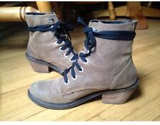 Free People Dolce Vita Combat Tan Leather Lace Up Boot Moto 6 Heel Low