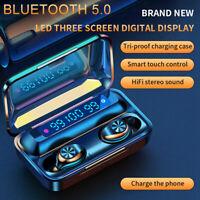 Bluetooth 5.0 Kopfhörer TWS In-Ear Sport Headset Ohrhörer Stereo Kabellose F9-10