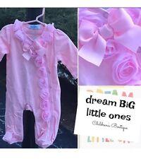 Newborn Baby Sleeper 1pc Pink USA gift shower girl feety pajama boutique set 6 9