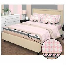 Bedsheet Fitted Sheet Cover Linen Collection with Pillowcase - (QUEEN) - PINK