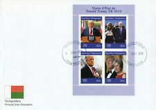 More details for madagascar 2019 fdc donald trump uk visit theresa may 4v m/s cover people stamps