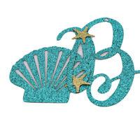 Blue Mermaid Glitter Happy Birthday Banner Birthday Party Decor CL