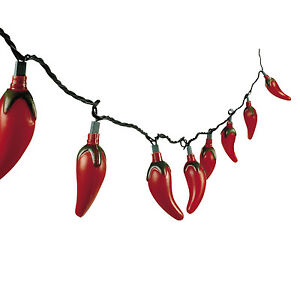 8ft Red Hot Chili Pepper Lights Cinco De Mayo Fiesta Mexican Decoration