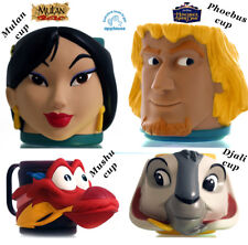 Hunchback of Notre Dame Phoebus Djali Mulan Mushu Cup Mug 4 lot Disney Applause