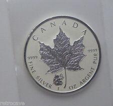 2016 Canadiense 1 oz plata hoja de arce con Panda Emisión de monarca.9999 Plata Moneda De Oro
