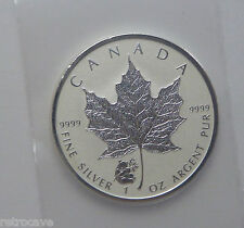 2016 Canadian 1 oz Silver Maple Leaf with Panda Privy .9999 Silver Bullion Coin
