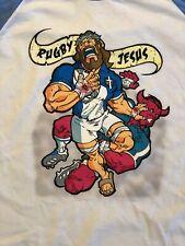 Rugby Jesus Raglan T-shirt