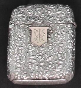 Solid Silver Vesta Dates 1884 by Cornelius Sanders & Frank Shepherd