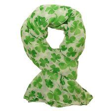 tolles Schaltuch Kleeblatt grün weiß