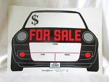 """Hillman Sign Center Auto for Sale Sign 843450 14"""" x 10"""" Made in USA"""