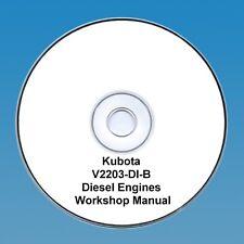 KUBOTA V2203-DI-B motore diesel-Manuale Officina
