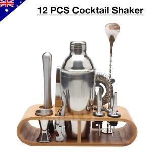 12Pcs Cocktail Shaker Set Mixer Martini Spirits Maker Bar Strainer Bartender Kit
