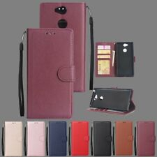 For Sony Xperia L2 XZ2 XA2 Luxury Magnetic Flip Card Wallet Leather Case Cover