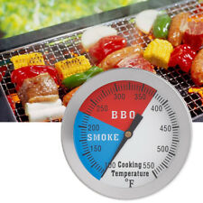 """2"""" 550F BBQ Thermometer Gauge Barbecue Grill Wood Smoker Charcoal Heat Indicator"""