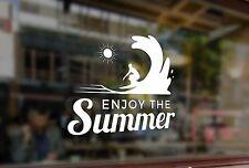 25cm Enjoy the summer surfing surfboard Vinyl Stickers Decals Car Auto Glass