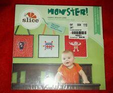 Elan Slice Fabric Design Card Monster! #37750 Quilting applique  w/instructions