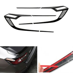 Rear Tail Light Lamp Cover For Honda Accord 2018 2019 2020 Glossy Black