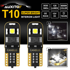 2X White Canbus T10 168 194 501 LED Bulb Car Interior Map Door Lamp Plug&Play