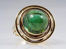 vintage Ring 8,00 Karat Turmalin Verdelith 585 Gold um 1960 - 1970