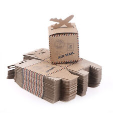 50x Kraft Paper Airplane Candy Box Wedding Decor Baby Shower Party Gift Box 3C
