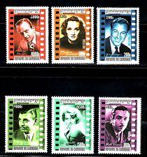 SELLOS TEMA CINE. CAMBOYA 2001 1813/18 ACTORES 6v.