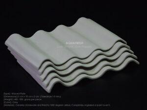 Pleco Ceramic Waved Plate Set: 5 pcs Grey color