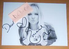 AUTOGRAFO Emma Bunton HAND Signed FOTO POP STAR ICON LIVE THE Spice Girls