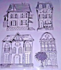 4 Vintage Style House Chiara in Silicone TIMBRO Card Making Scrapbooking Diario ART