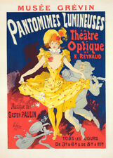 Musee Grevin, Pantomimes Lumineuses by Jules Cheret 90cm x 64cm Art Paper Print