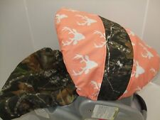 Deer,buck,stag mossy oak,wilderness infant car seat and canopy cover set.
