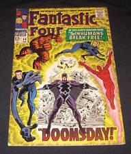 FANTASTIC FOUR #59 Vf- 12¢ cover Marvel Comic   INHUMANS BREAK FREE! - DOOMSDAY!