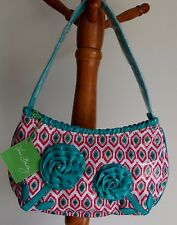 VERA BRADLEY FRILL COMIN' UP ROSES  HANDBAG MAKE ME BLUSH RETIRED NWT