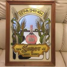 NIKKA WHISKY Stained Glass Pub Mirror Super Nikka Vintage