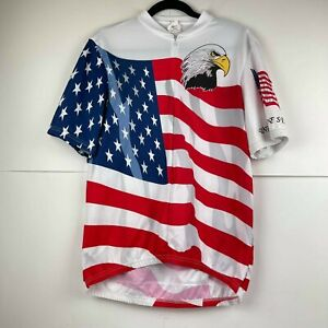 Primal and more Men's lot of 7 Cycling Race Jersey Multicolor Size XL USA flag