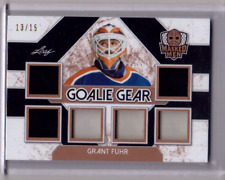 GRANT FUHR 17/18 Leaf Masked Men Goalie Gear 6X Patch Jersey  #13/15 SP Card