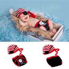 Neugeborene Baby Knit Strick Fotoshooting Pirates of the Caribbean Kostüm