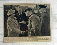 1940 Queen Shaking Hands With A Pirrie, Ss Cairnross Sunk By Mine