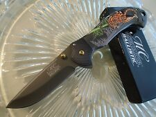 Master Collection Assisted Open Prowling Tiger Pocket Knife Grey Tini A042BK New