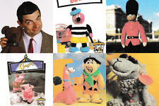 6 x Vintage Knitting Patterns – Mr Beans Teddy, Bertie, Clanger, Flintstone