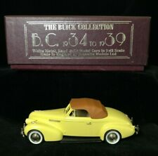 Boxed BROOKLIN #11 1939 BUICK Century Convertible Coupe M-66C Diecast Model 1/43