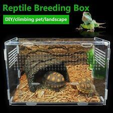 Large Reptile Breeding Box Acrylic Terrarium Pet Tank Insect Spiders Lizard Cage